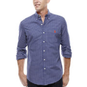 U.S. Polo Assn.® Long-Sleeve Plaid Oxford Shirt