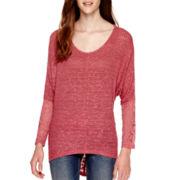 California Gypsy Long-Sleeve Knit Hatchi Tunic