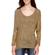 California Gypsy Long-Sleeve Knit Hatchi Tunic