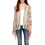 Self Esteem® Long-Sleeve Fringe Cozy Cardigan