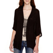 Heart & Soul® 3/4-Sleeve Layered Elephant Graphic Necklace Top