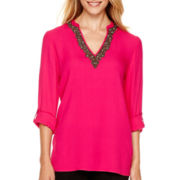nicole by Nicole Miller® Long-Sleeve Embellished Tunic