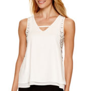 nicole by Nicole Miller® Sleeveless Trim Tank Top