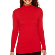 Worthington® Long-Sleeve Turtleneck Pullover Sweater - Tall