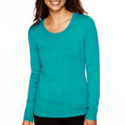 Worthington® Long Sleeve Crewneck Sweater