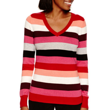 jcpenney.com | Worthington® Long-Sleeve V-Neck Pullover Sweater - Tall