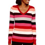 Worthington® Long-Sleeve V-Neck Sweater