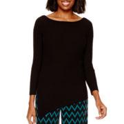 Worthington® Long-Sleeve Asymmetrical Sweater
