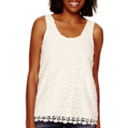 a.n.a® Allover Crochet Lace Tank Top
