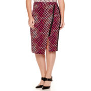 Worthington® Exposed-Zip Print Envelope Skirt - Plus