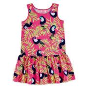 Okie Dokie® Sleeveless Ruffle-Skirt Dress - Girls 2t-5t