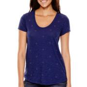 Liz Claiborne® Short-Sleeve Embellished T-Shirt - Petite