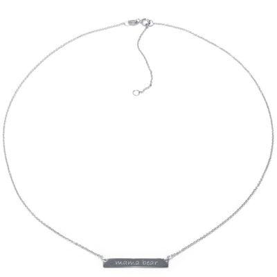 Silver Treasures Mama Bear Womens Pendant Necklace by Silver Treasures