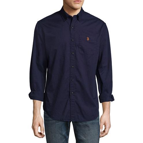 U.S. Polo Assn. Long Sleeve Button-Front Shirt