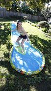 Slide & Surf Swing Set