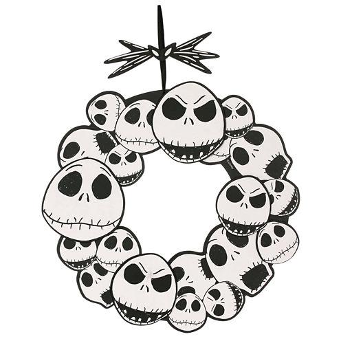 "The Nightmare Before Christmas Jack Skellington 17"" Wreath"""