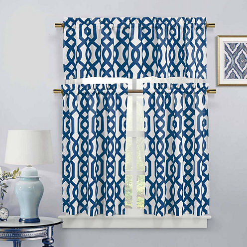 Duck River Ashmont 3-pc. Kitchen Curtain Set