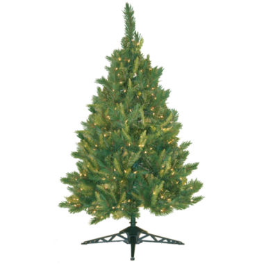jcpenney.com | 4.5' Pre-Lit Mixed Pine Christmas Tree