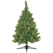 4.5' Pre-Lit Mixed Pine Christmas Tree