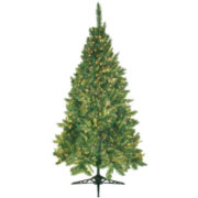 6.5' Pre-Lit Mixed Pine Christmas Tree