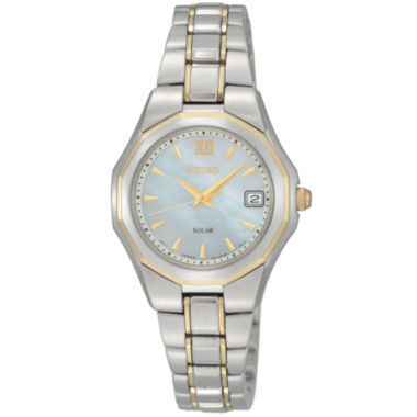 jcpenney.com | Seiko® Womens Two-Tone Solar Watch SUT058
