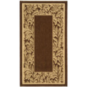 Courtyard Floral Border Indoor/Outdoor Rectangular Rugs