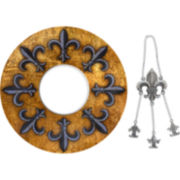 Fleur de Lis Wine Trivet & Wine Bottle Necklace Set
