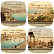 Set of 4 Italian Inspiration Winers Appetizer Plates