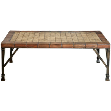jcpenney.com | Palermo Cobblestone Tile Rectangular Coffee Table