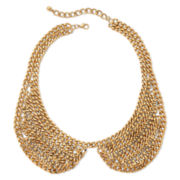 Decree® Gold-Tone Steel Chain Peter Pan Collar Necklace