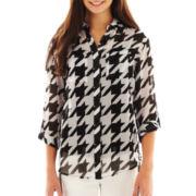 Decree® Long-Sleeve Button-Front Shirt