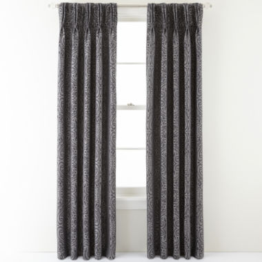 jcpenney.com | Royal Velvet® Colebrook Pinch-Pleat Damask Curtain Panel
