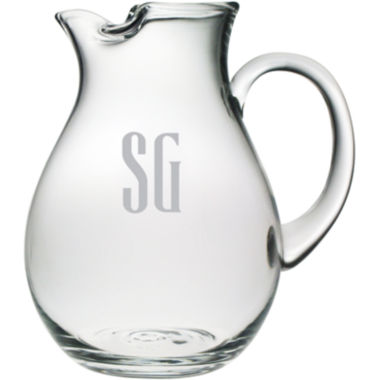 jcpenney.com | 2 Letter Block Monogrammed Glass Pitcher