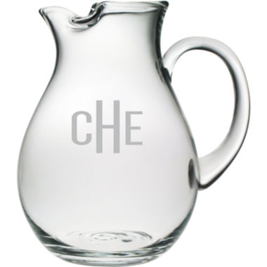 jcpenney.com | 3 Letter Block Monogrammed Glass Pitcher