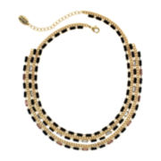 nicole by Nicole Miller® Gold-Tone Five-Row Necklace
