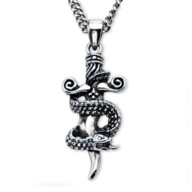 jcpenney.com | Inox® Jewelry Mens Stainless Steel Sword and Snake Pendant Necklace