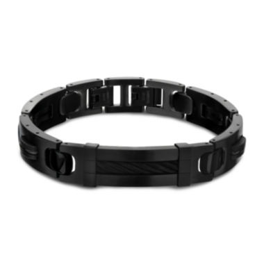 jcpenney.com | Inox® Jewelry Mens Stainless Steel & Black IP Link Bracelet