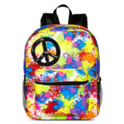 Peace Splatter Light-Up Backpack