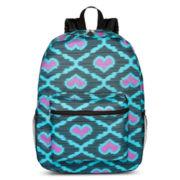 Heart Print Backpack