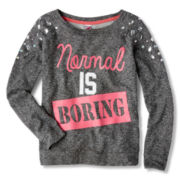 Knit Works Jewel Sweatshirt - Girls 7-16 and Plus