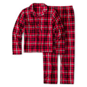Arizona 2-pc. Plaid Pajama Set – Boys XS-L