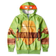 Teenage Mutant Ninja Turtles Fleece Zip-Front Hoodie – Boys 6-16