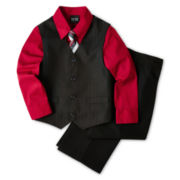 4-pc. Double Stripe Vest Set – Boys 2-8