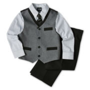 4-pc. Poplin Pieced Vest Set – Boys 2-8