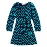 Speechless® Chevron Hatchi Knit Dress - Girls 6-16