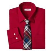 IZOD® Long-Sleeve Dress Shirt and Clip-On Tie Set – Boys 6-18