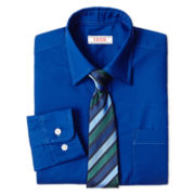 IZOD® Long-Sleeve Dress Shirt and Tie Set – Boys 6-18