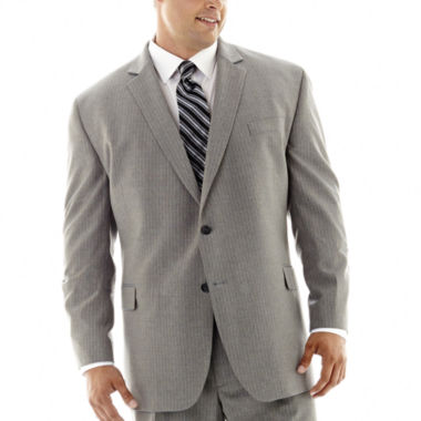 jcpenney.com | Stafford® Travel Gray Stripe Suit Jacket–Big & Tall
