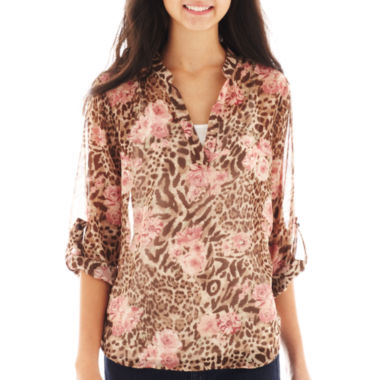 jcpenney.com | Almost Famous Print Top