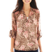Almost Famous Print Top